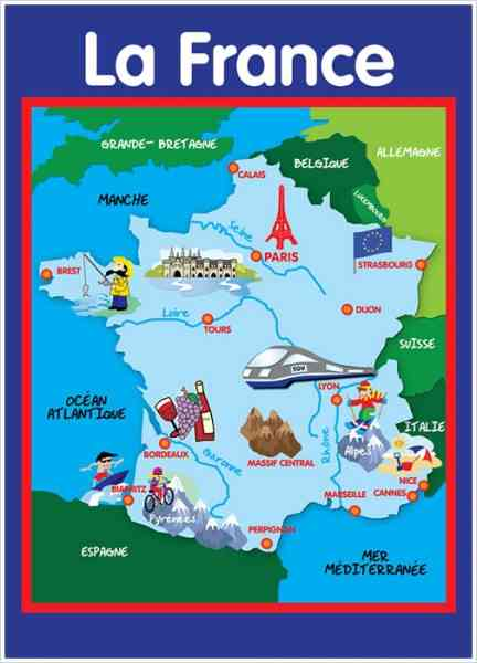 Map of france in french language map of cities in france 1494 french language map holidaymapq on map of cities in france 1494 gumiabroncs Choice Image