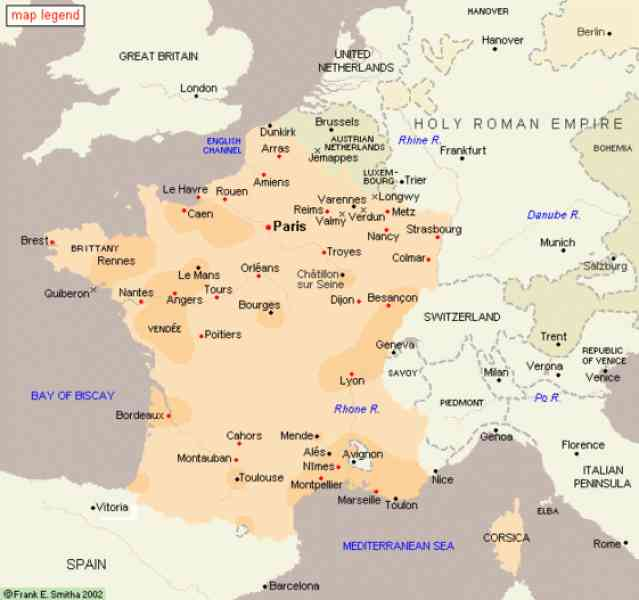 french revolution map 322 French Revolution Map