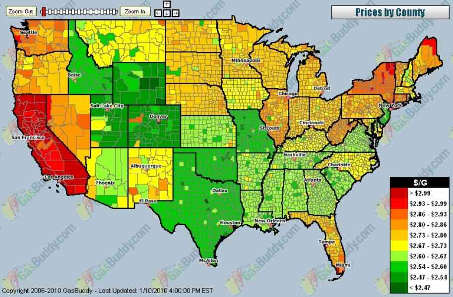 Gas Prices Map Holiday Map Q Holidaymapq Com