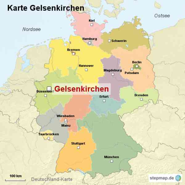 Gelsenkirchen Map