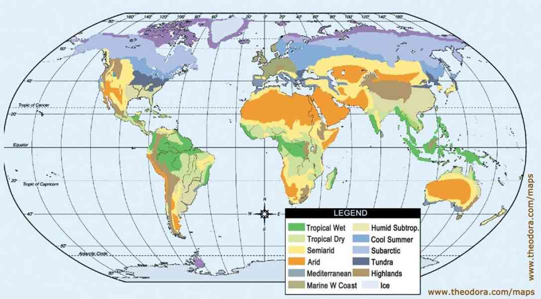 geographic map of world 8 Geographic Map Of World