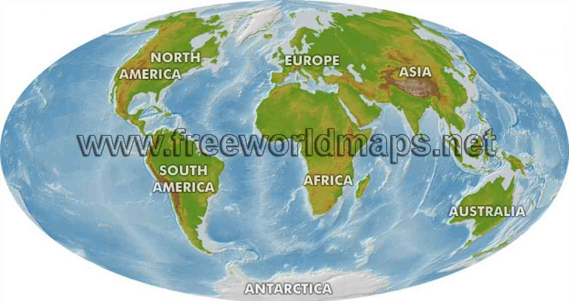 geographic map of world 42 Geographic Map Of World
