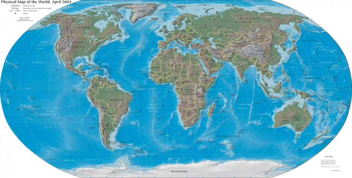 geographic map of world 307 Geographic Map Of World