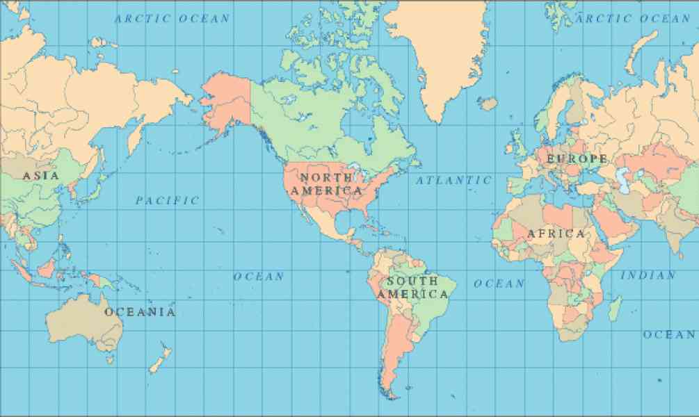 geographic map of world 186 Geographic Map Of World