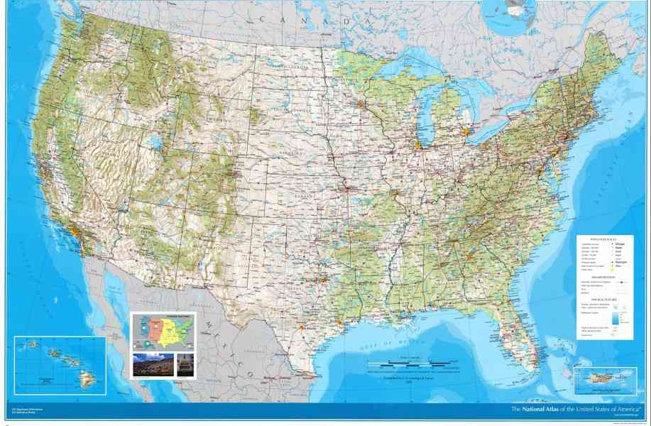 Geography Map Of Us Map Holiday Travel HolidayMapQcom - Us map geography