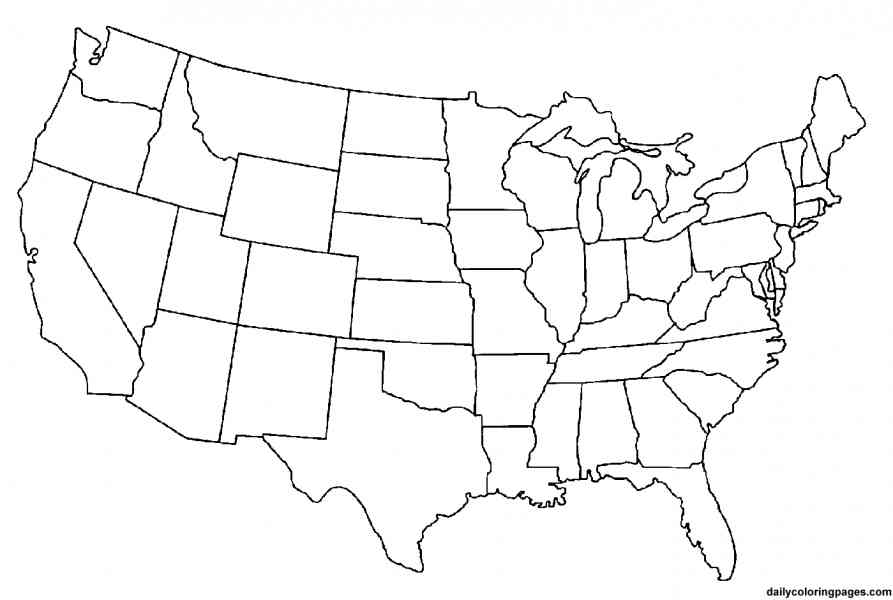 united states template map Gsebookbinderco