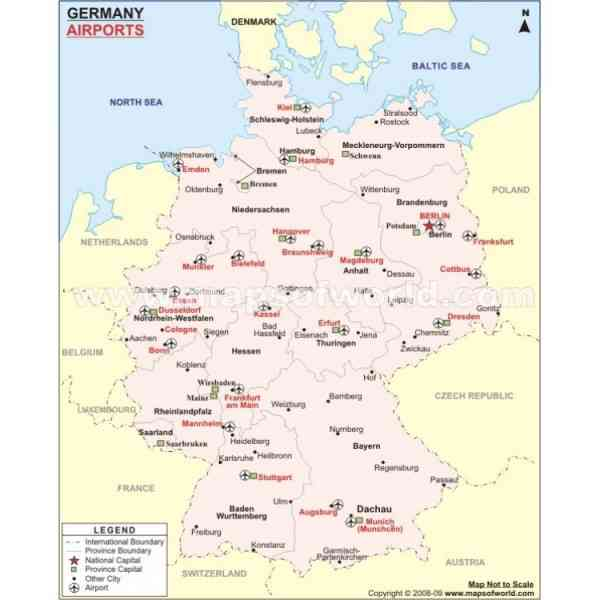 Germany Map Airports Map Holiday Travel HolidayMapQcom - Germany map airports