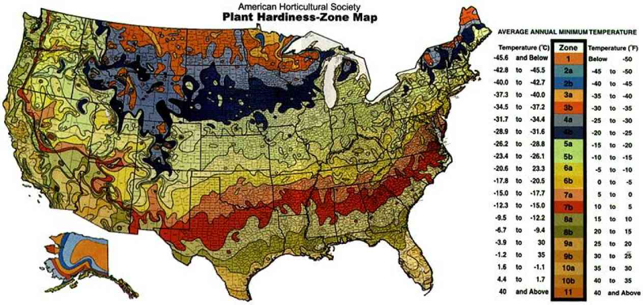 growing zone map 135 Growing Zone Map