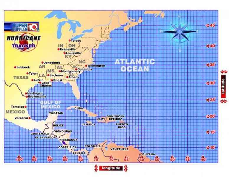 It is a graphic of Irresistible Printable Hurricane Tracking Chart