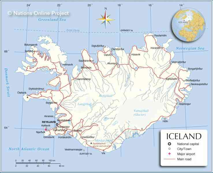 world map with iceland - 28 images - iceland map infoplease, iceland ...