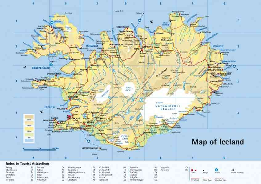 Iceland world map holidaymapq iceland world map gumiabroncs Gallery