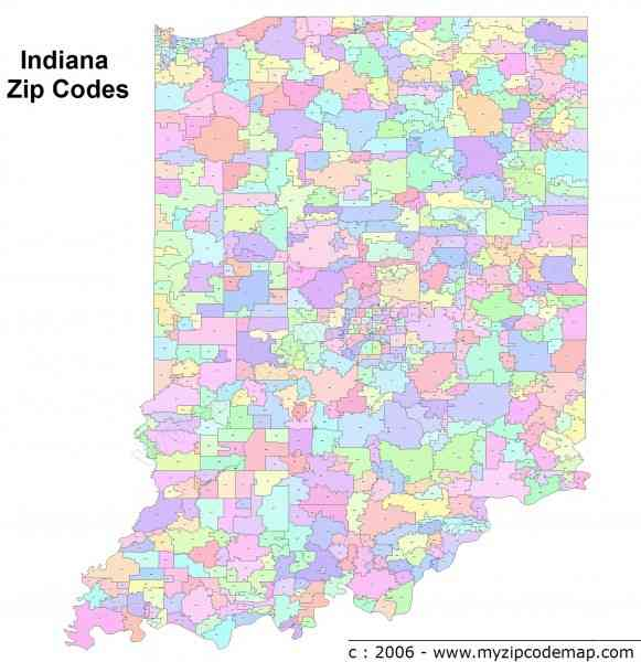 Indianapolis Zip Code Map Gallery