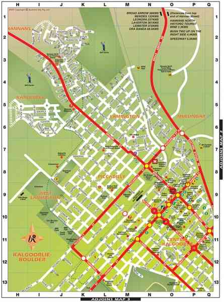 Kalgoorlie Map HolidayMapQcom