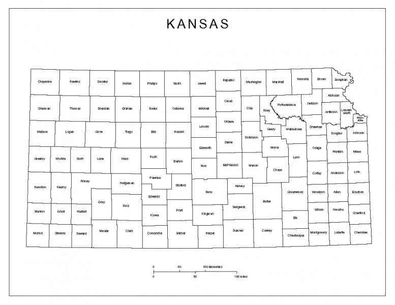 kansas county map 355 Kansas County Map