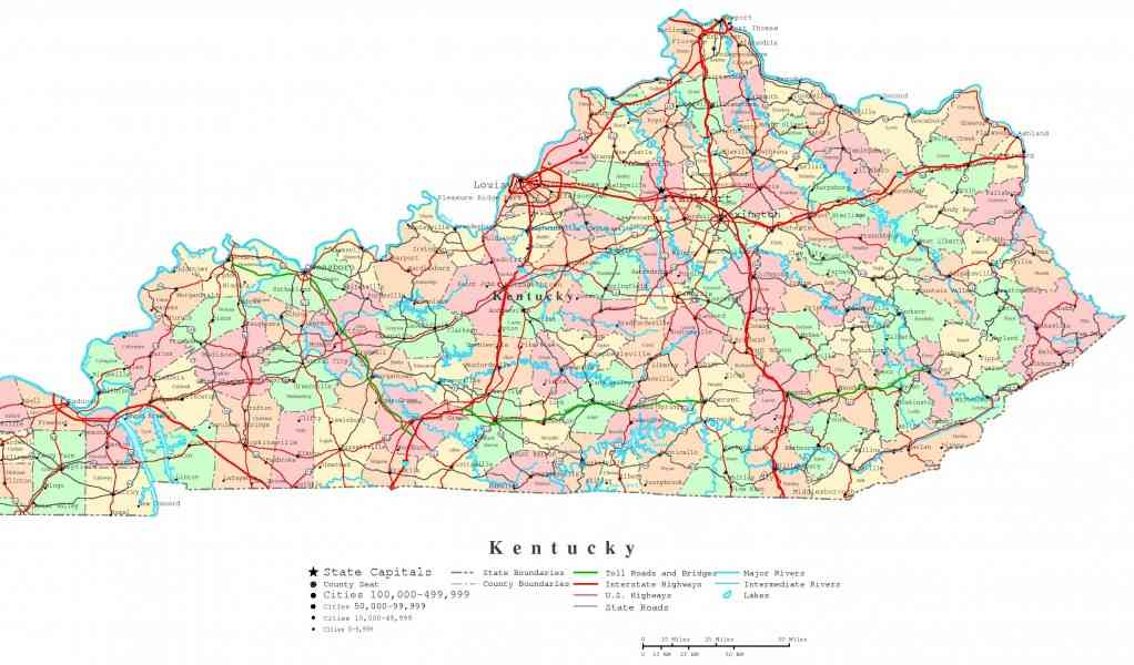 kentucky map 44 Kentucky Map