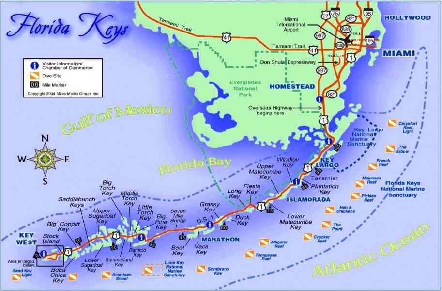 Key West Map HolidayMapQcom