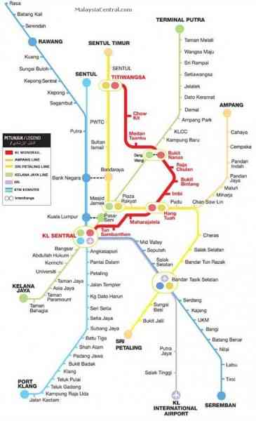 kl monorail map 153 Kl Monorail Map