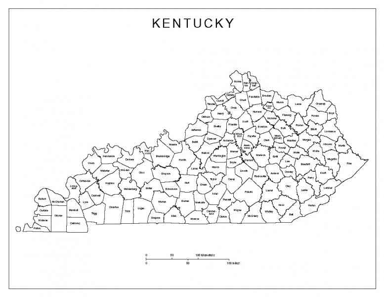 Ky County Map HolidayMapQcom