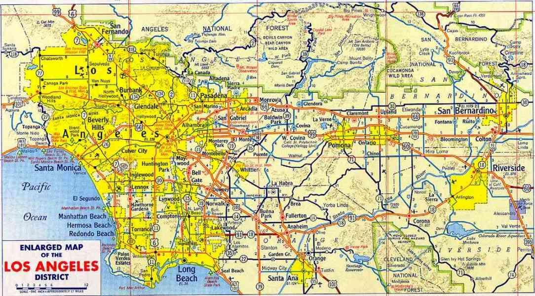 l a county map