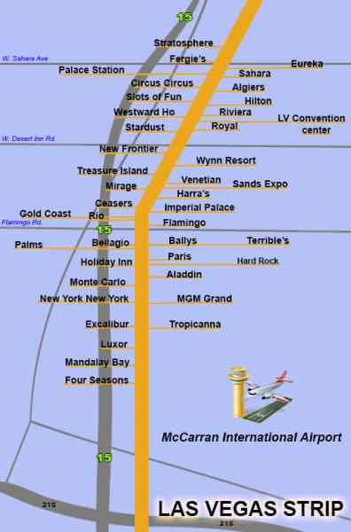 Las Vegas Strip In 2017 Both Are Up To Date Hotel Maps With All New Hotels And S Between 2016