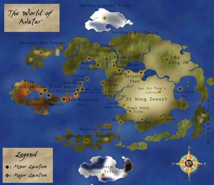 Last Airbender Map Map Holiday Travel