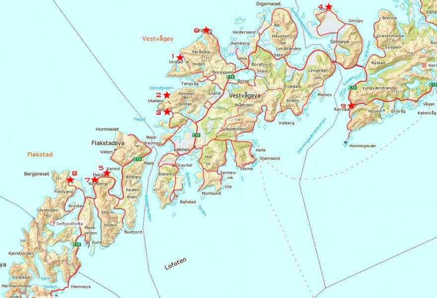 Lofoten Map - HolidayMapQ.com