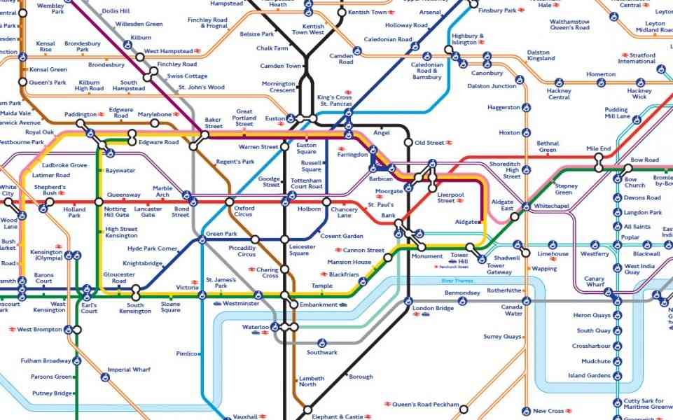 london interactive tube map