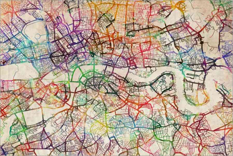 London Map Art 114 London Map Art