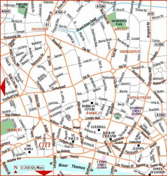 London Map City Centre HolidayMapQcom