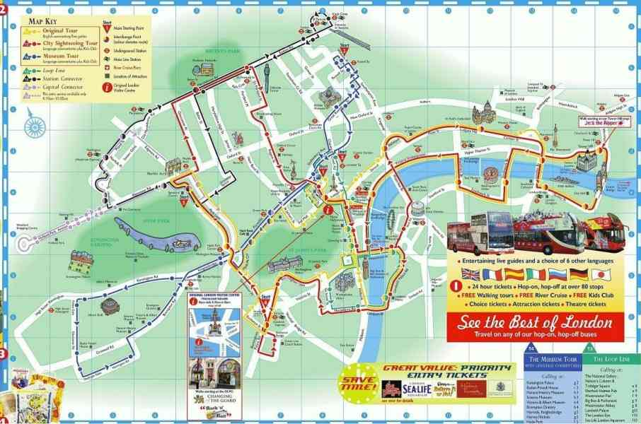 London Map Sights – Map Of London For Tourists