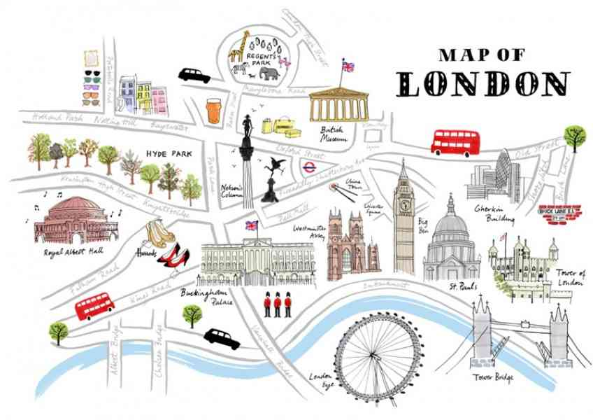 London Map Sights – Map Of Central London For Tourists