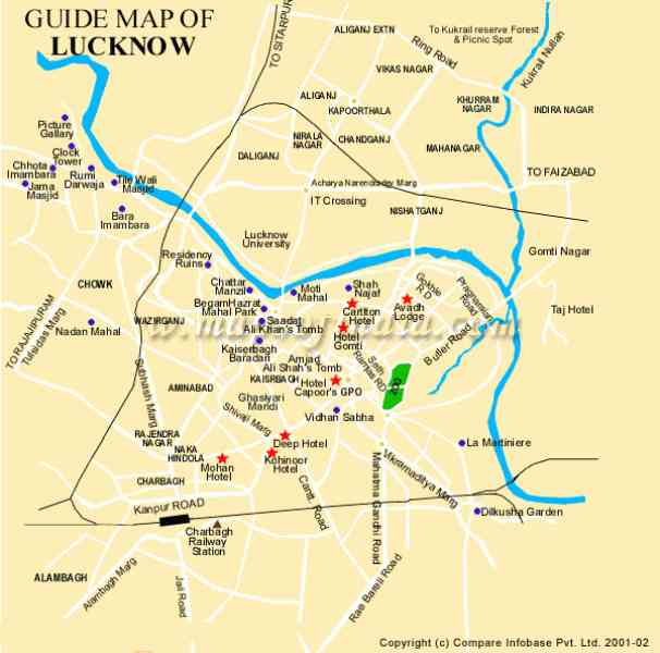 lucknow city map 116 Lucknow City Map