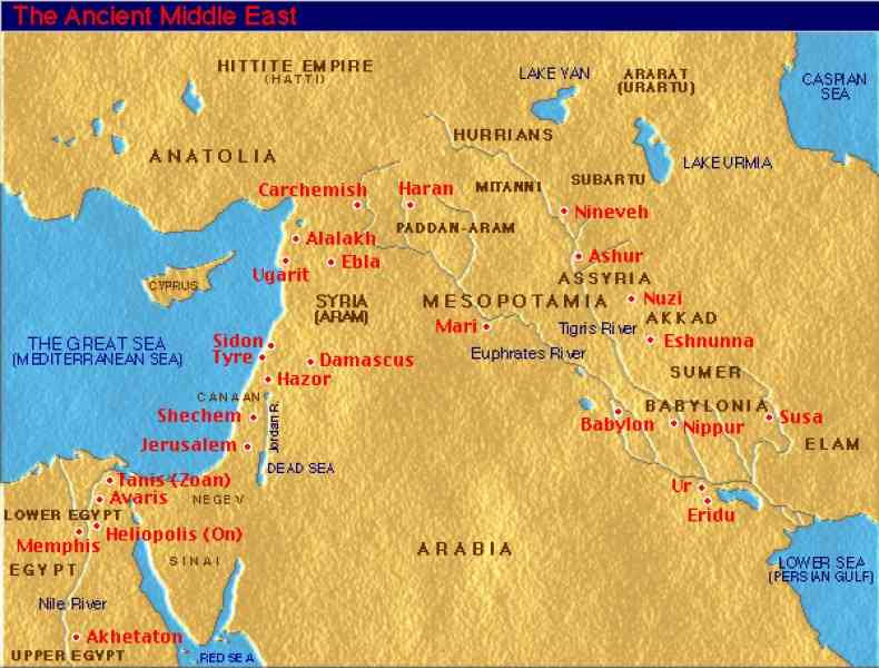Map Ancient Middle East  Map  Holiday  Travel HolidayMapQcom
