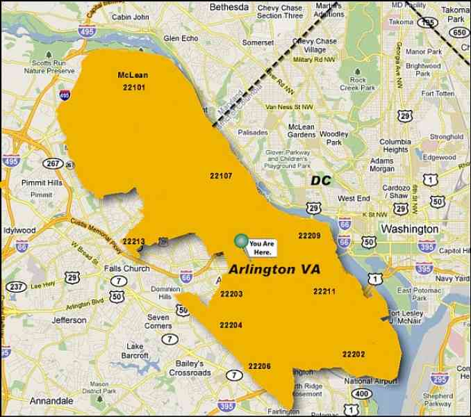 map arlington va 5 Map Arlington Va