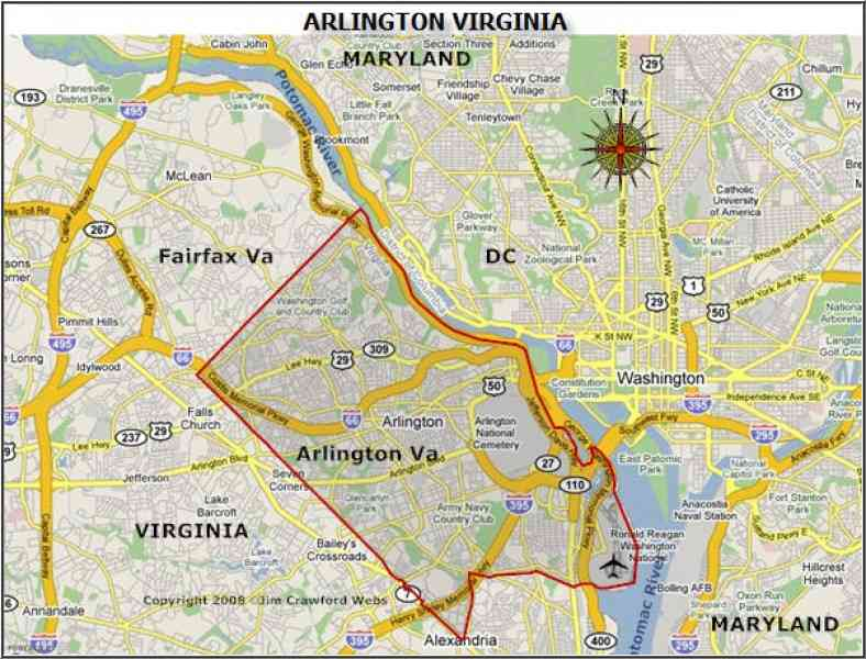 map arlington va 181 Map Arlington Va