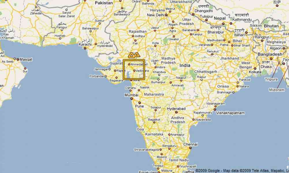 Map Baroda HolidayMapQcom