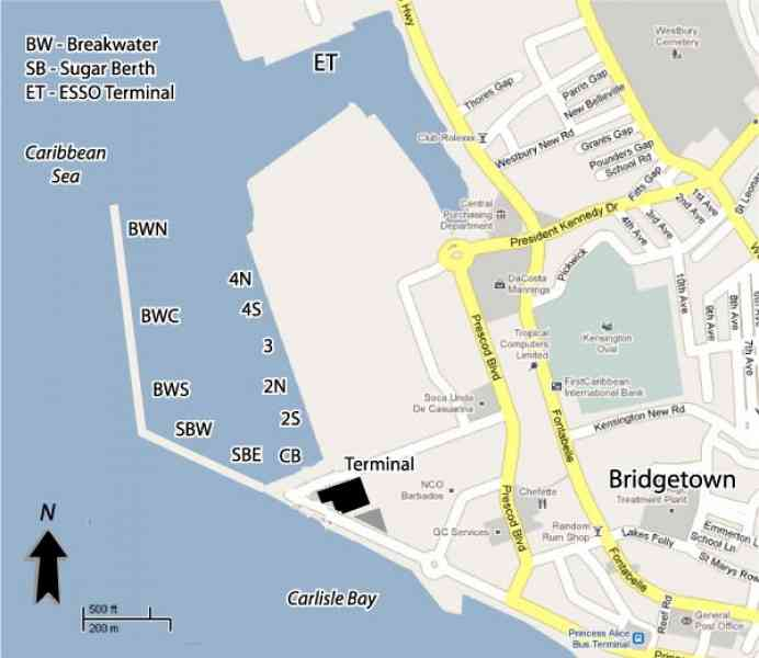 Map Bridgetown HolidayMapQcom