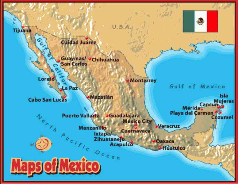 world map cabo san lucas mexico choice image