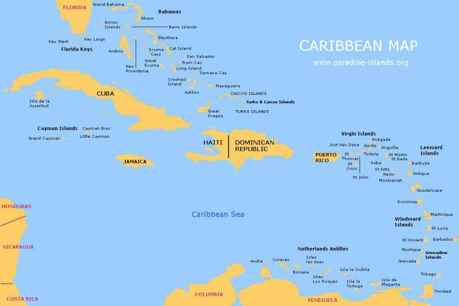 map caribbean islands 4 Map Caribbean Islands