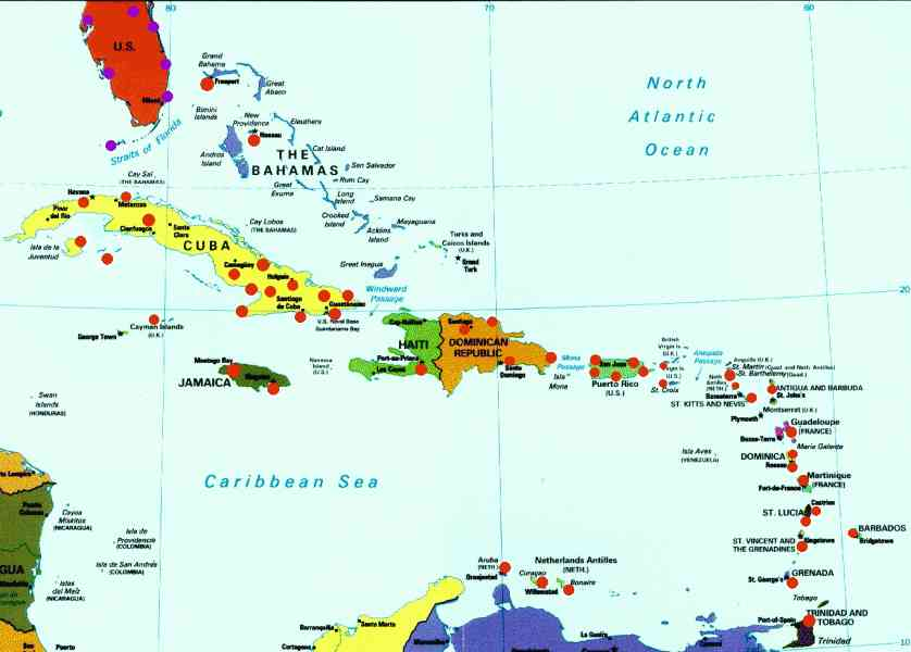 map caribbean islands 22 Map Caribbean Islands