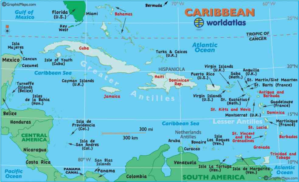 map caribbean islands 52 Map Caribbean Islands