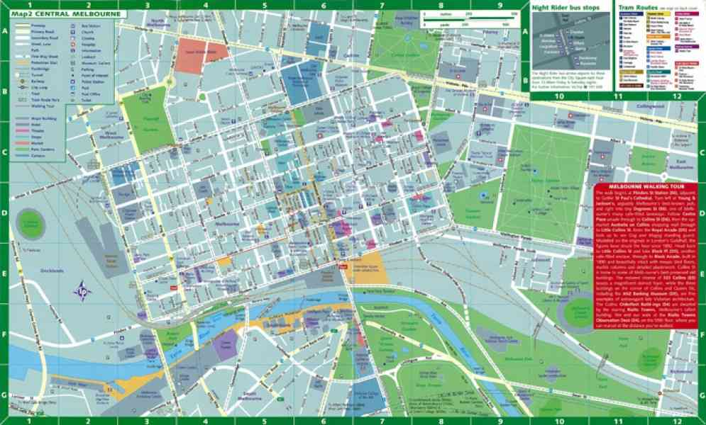 Map Cbd Melbourne HolidayMapQcom