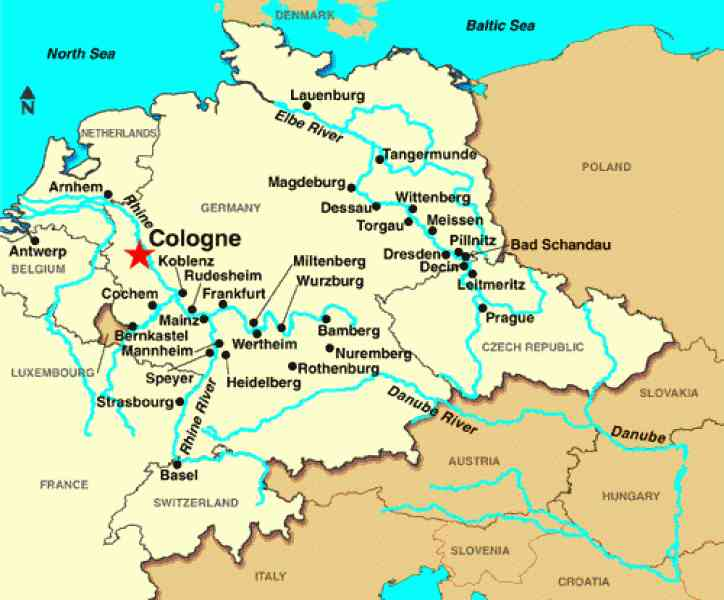 Cologne Germany Map map ...