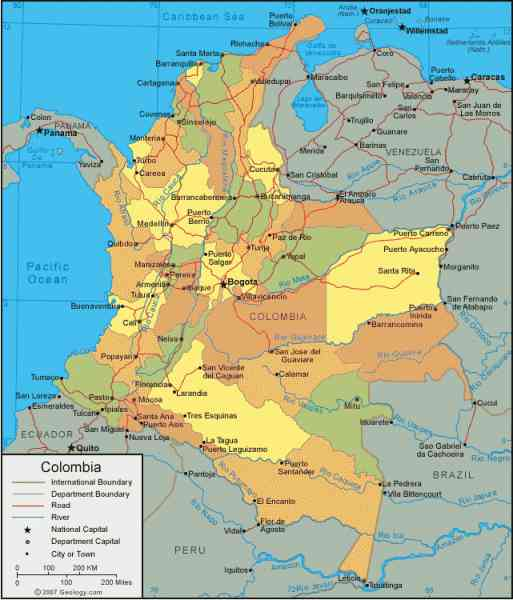 map colombia 3 Map Colombia