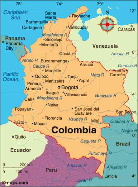 map colombia 172 Map Colombia