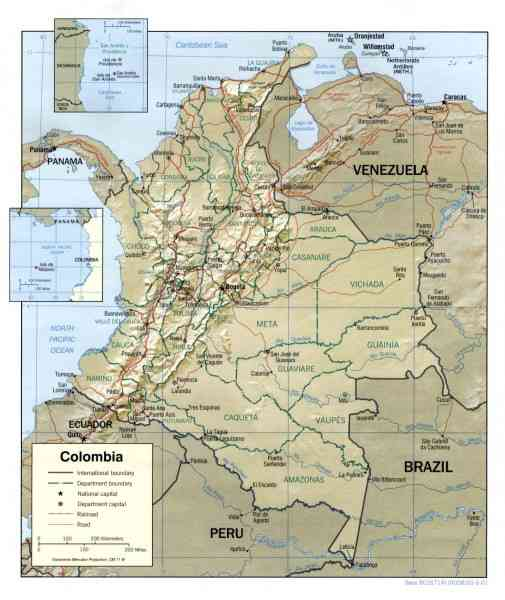 map colombia 50 Map Colombia