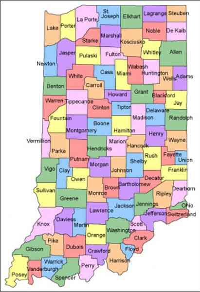 map counties indiana 77 Map Counties Indiana