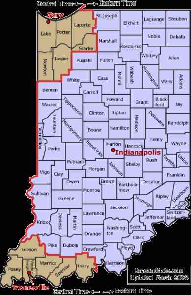 map counties indiana 516 Map Counties Indiana