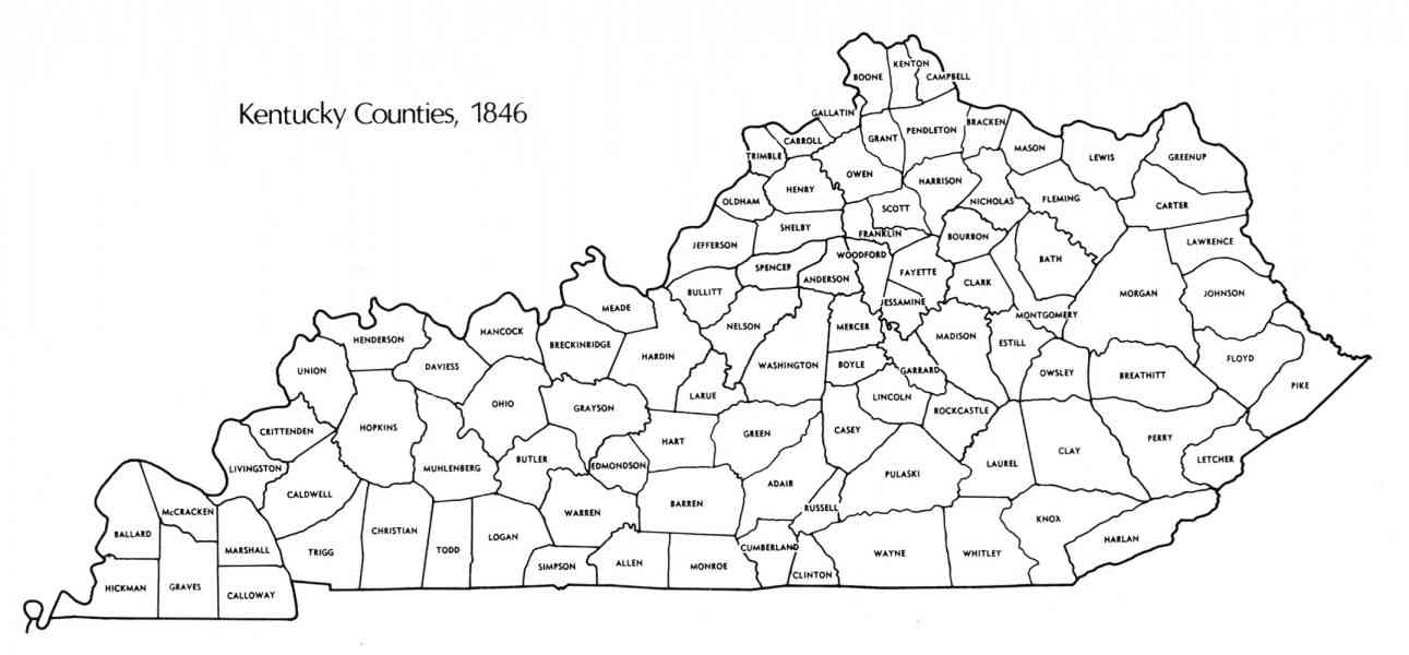 Kentucky Map With Counties: County Map Kentucky At Slyspyder.com
