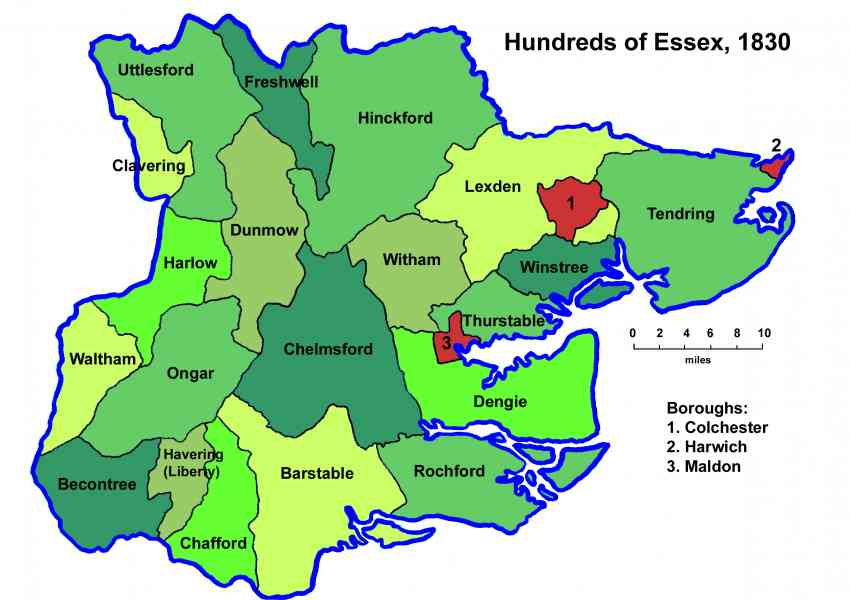 map essex england 2 Map Essex England